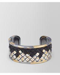 Bottega Veneta - Multicolor Intrecciato Silver Bracelet - Lyst