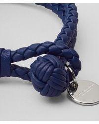 Bottega Veneta - Blue Pacific Intrecciato Nappa Bracelet - Lyst