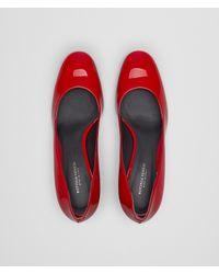 Bottega Veneta - China Red Patent Calf Isabella Pump - Lyst