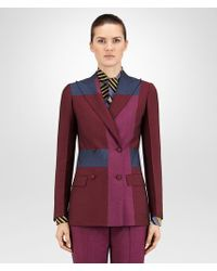 Bottega Veneta - Multicolor Jacket In Barlo Peony Pacific Wool Mohair - Lyst