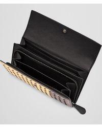 Bottega Veneta - Multicolor Continental Wallet In Gold Multi Intrecciato Glam Nappa - Lyst