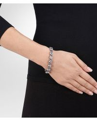 Bottega Veneta - Metallic Bracelet In Silver And Natural Cubic Zirconia - Lyst