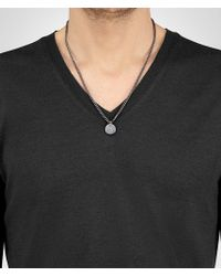 Bottega Veneta - Metallic Embossed Hexagonal Pendant for Men - Lyst
