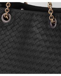 Bottega Veneta - Black Nero Intrecciato Nappa Medium Tote - Lyst