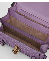 Bottega Veneta - Purple Lilac Intrecciato Wingtip City Knot Bag - Lyst