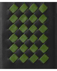 Bottega Veneta - Green Nero/fern Intrecciato Checker High-tech Case - Lyst