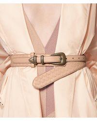 Bottega Veneta - Multicolor Peach Rose Intrecciato Nappa Belt - Lyst