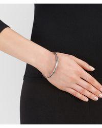 Bottega Veneta - Metallic Bracelet In Silver, Intrecciato Detail - Lyst