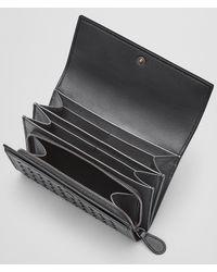 Bottega Veneta - Metallic Antique Silver Intrecciato Nappa Wallet - Lyst
