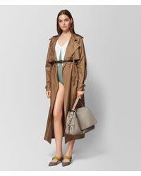 Bottega Veneta - Natural Camel Silk Coat - Lyst