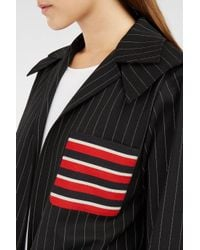 Marco De Vincenzo - Black Twill-panelled Pinstriped Stretch-wool Jacket - Lyst