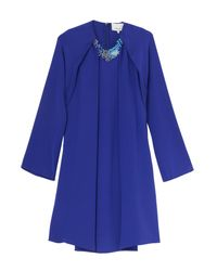3.1 Phillip Lim | Blue Dress With Jewel Neck | Lyst