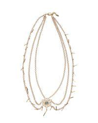 Isharya - Metallic Fligree Necklace - Lyst