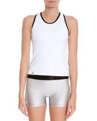 Monreal London - White Racer Back Tank Top - Lyst