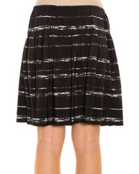 Vince - Black Striped Skirt - Lyst