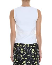 Giambattista Valli - White Daisy Knit Top - Lyst