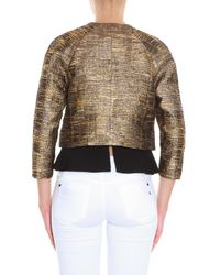 Oscar de la Renta - Metallic Tweed Jacket - Lyst