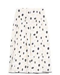 Oscar de la Renta - Black Polka Dot Skirt - Lyst