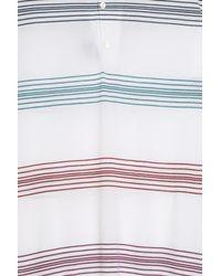 John Smedley - White Jory Stripe Polo Shirt for Men - Lyst