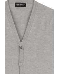 John Smedley - Gray Steadman Sea Island Cardigan for Men - Lyst