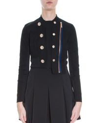 Anthony Vaccarello - Black Officer Jacket - Lyst