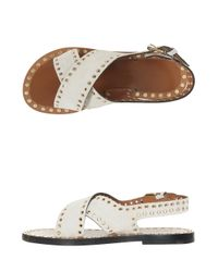 Isabel Marant - White Jane Suede Sandals - Lyst