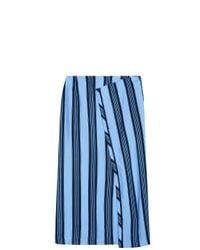 Acne | Blue Karlis Striped Skirt | Lyst