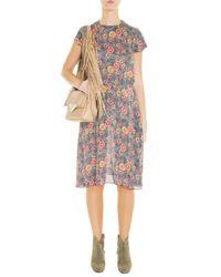 Sara Battaglia - Natural Teresa Fringed Leather Shoulder Bag - Lyst