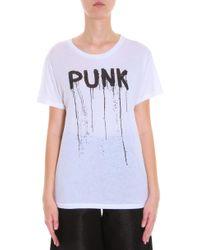 R13 - White Punk T-shirt - Lyst