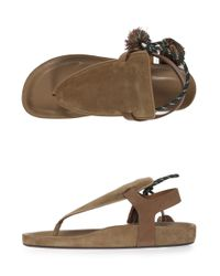 Isabel Marant - Natural Jemma Suede Sandals - Lyst
