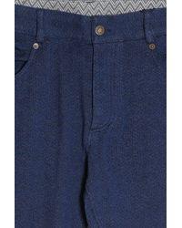 Missoni - Blue Chevron Trousers for Men - Lyst