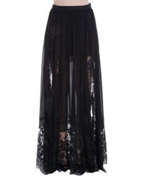 Elie Saab - Black Lace Skirt - Lyst