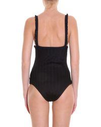 Missoni - Black Zig Zag Fringe Swimsuit - Lyst