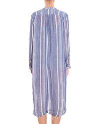 Raquel Allegra - Blue Stripe Cotton Dress - Lyst