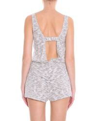 LNA - Natural Knitted Romper - Lyst