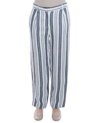 Paul & Joe - Multicolor Linen Trousers - Lyst