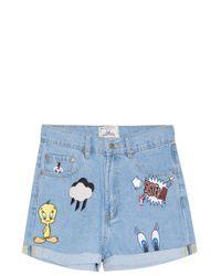 Paul & Joe - Blue Looney Tunes Denim Shorts - Lyst