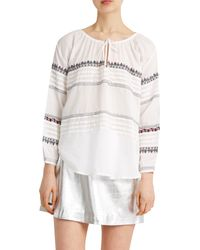 Paul & Joe - White Zerk Blouse - Lyst