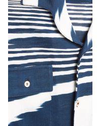 Missoni - Blue Swirl Knit Shirt for Men - Lyst