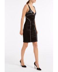 Galvan London - Black Bustier Contrast Dress - Lyst