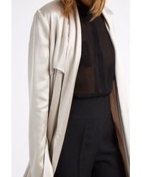 Galvan London - Metallic Silk Coat - Lyst