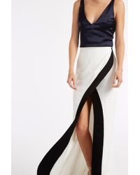 Galvan London - Black Contrast Dress - Lyst