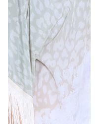 Athena Procopiou - Natural Leopard Fringe Kimono - Lyst
