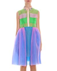 Delpozo - Multicolor Organza Pocket Dress - Lyst