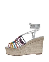 Chloé - Multicolor Espadrille Wedge Sandal - Lyst