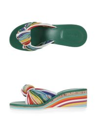 Chloé - Multicolor Knot Front Rainbow Wedge - Lyst
