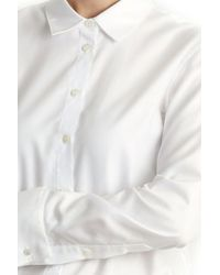 Tibi - White Shirt Bodysuit - Lyst