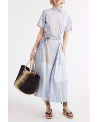 Lisa Marie Fernandez - Blue Shirt Dress - Lyst
