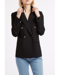 Helmut Lang - Black Double Breasted Blazer - Lyst