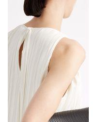 Adam Lippes - White Pleated Asymmetric Dress - Lyst